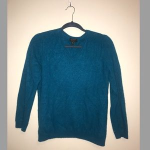 Cashmere Charter Club Luxury Teal V Neck Sweater